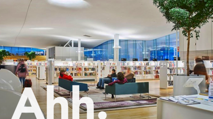 leisure, ahh, brand campaign, library, relaxing people