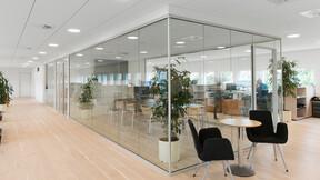 DK-LE34 Finlandsgade,Denmark,Aarhus,ca. 700 m²,Vision Architect - Morten Loven,Forskningsfondens Ejendomsselskab A/S,Svend Christensen,ROCKFON Blanka,Z-edge,1200x600x20,white