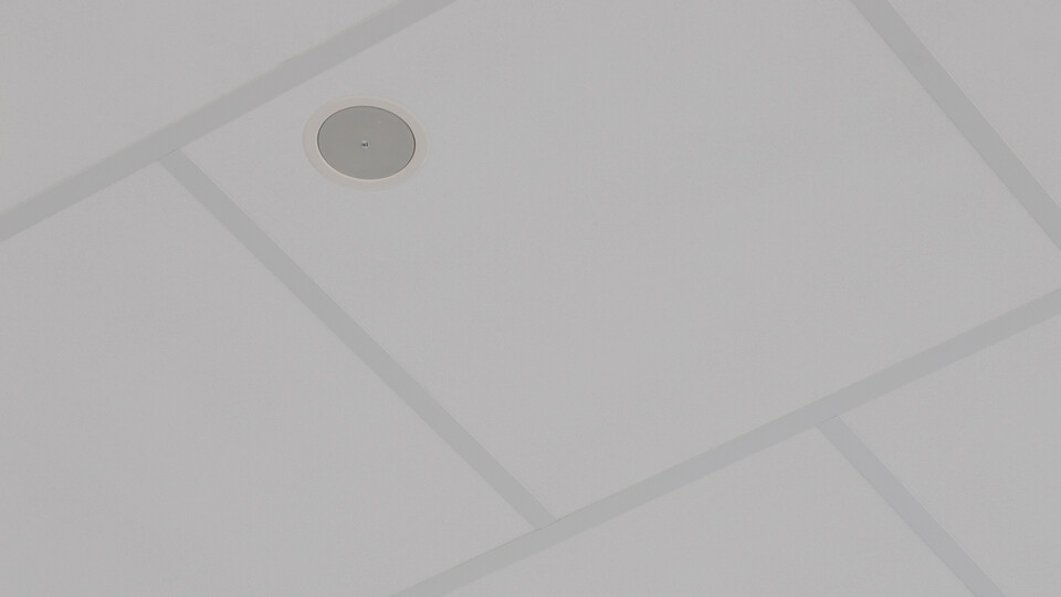 Featured products: Rockfon® Boxer™, AEX, 1200 x 1200
