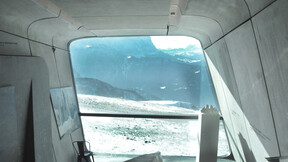 Messner Mountain Museum,Italy,Plan De Corones - Brunico,350 m²,Zaha Hadid Architects,Mr Peter Irmscher,Skirama Kronplatz,Manuel Moling,Cristina Russo,ROCKFON Mono Acoustic,TE-edges,1200x1200x10,white